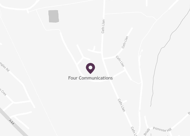 Map of Location in Aberystwyth