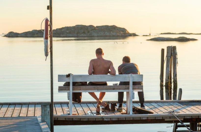 Swedish Open water piers