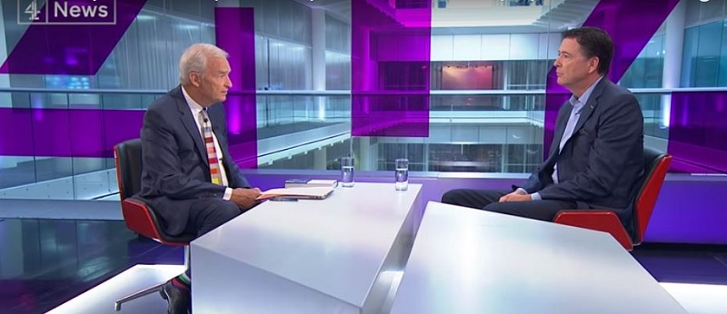 James Comey on Channel 4 News