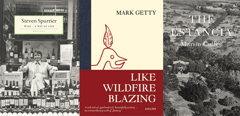 Three Adelphi Published book covers