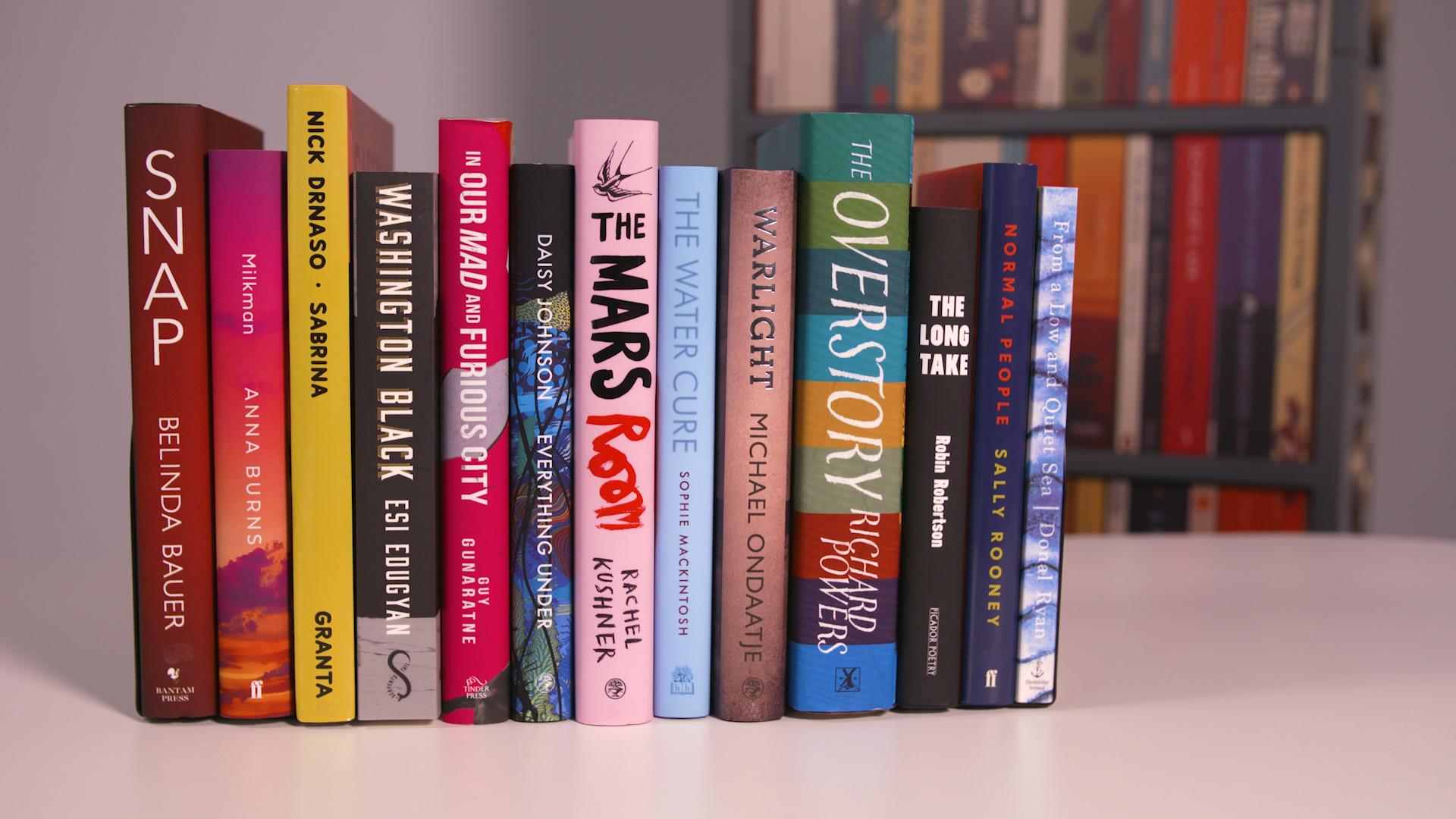 Prized Books on Shelf