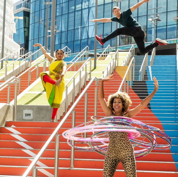 Three Colourful Entertainers at the event