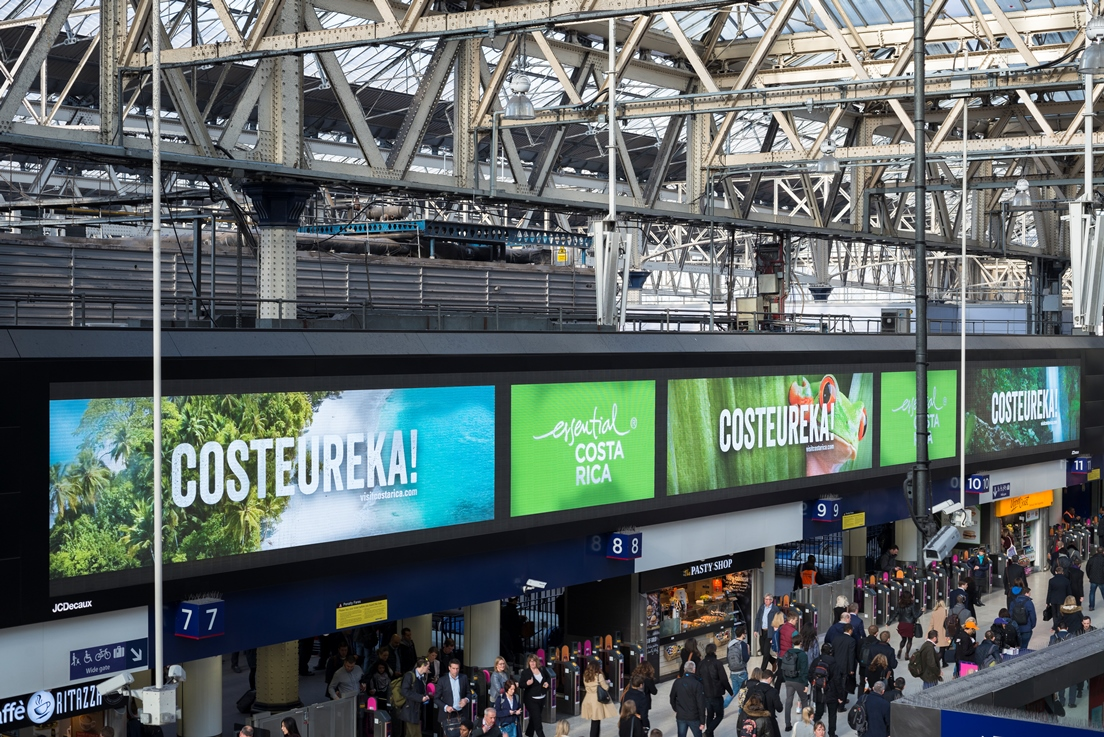 Train Station launch campaign for Costa Rica