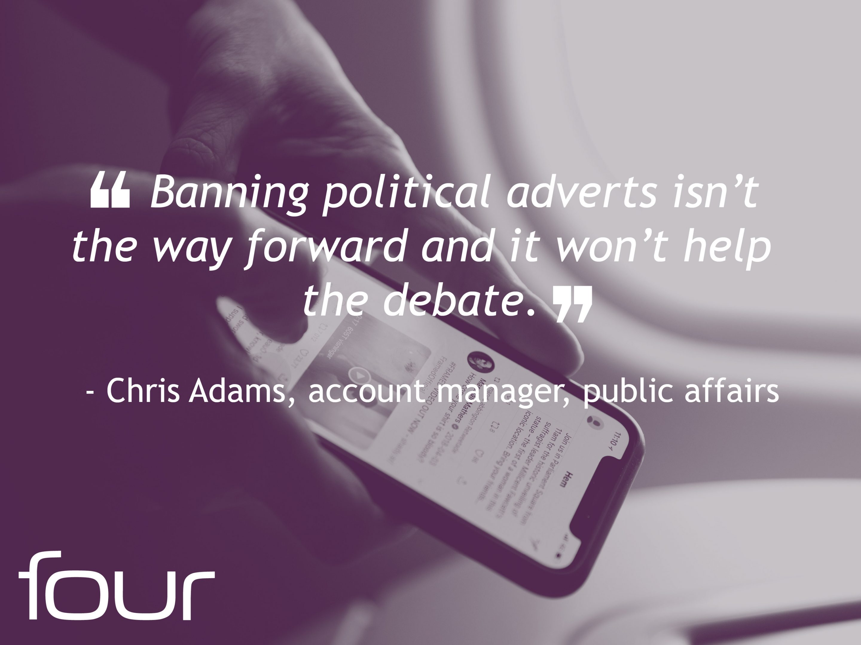 Chris Adams Political Adverts Quote