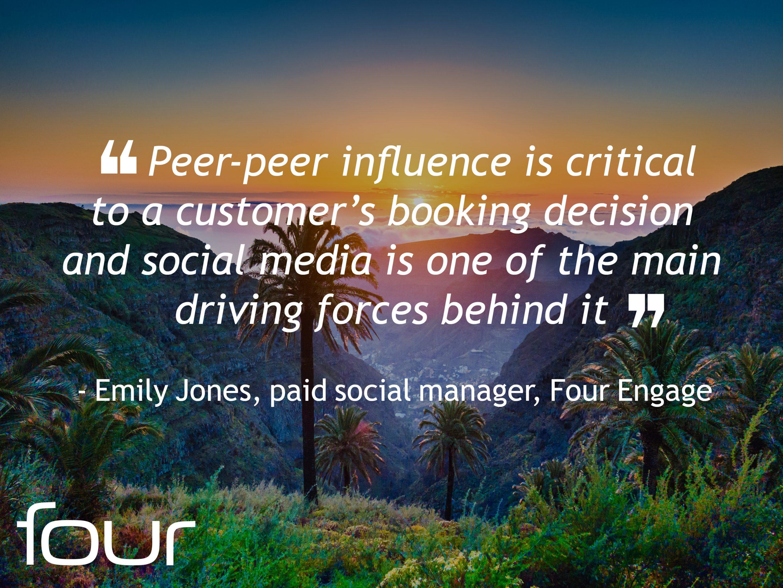 Emily Jones quote on Peer-to-Peer Influence