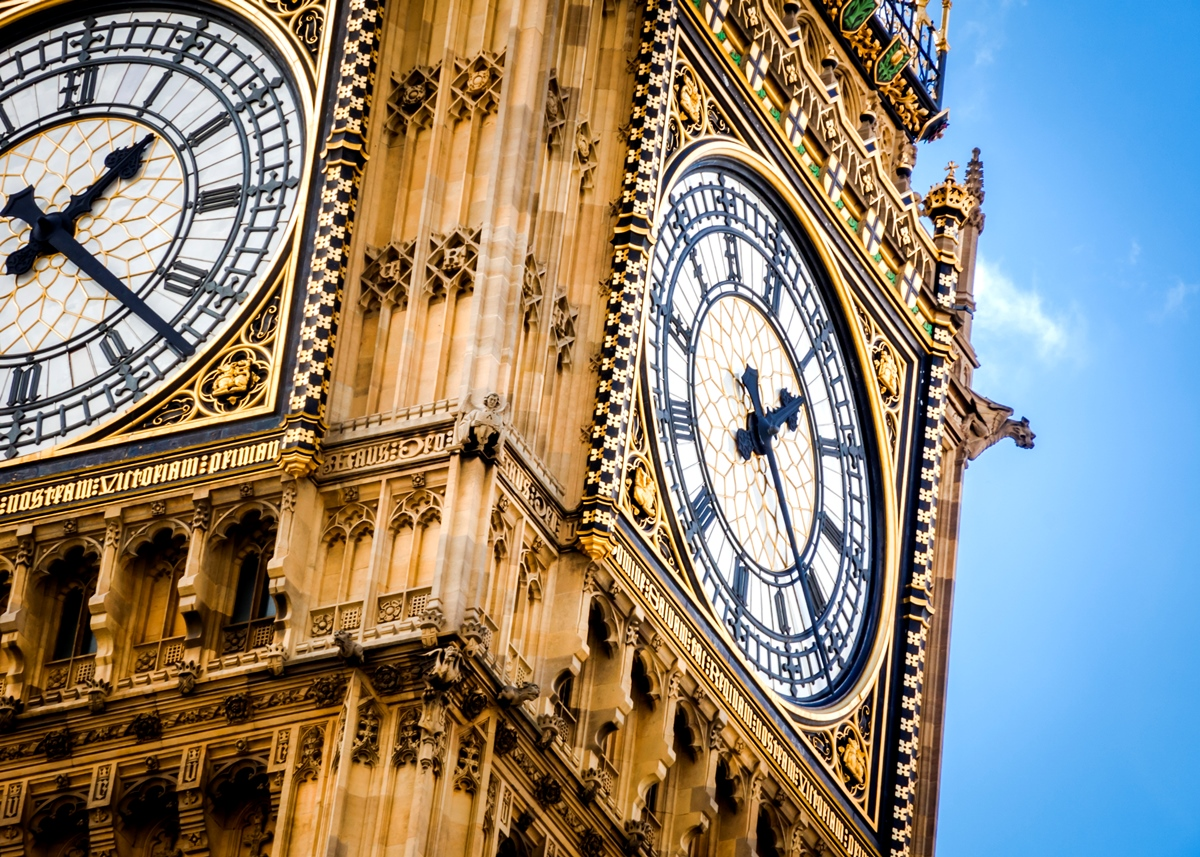 Westminster Houses of Parliament Big Ben close up