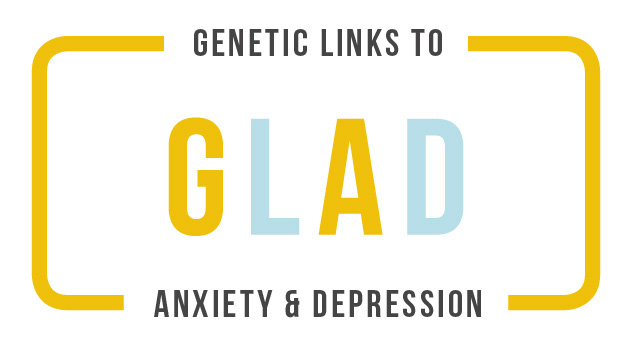 GLAD logo - Genetic Links to Anxiety & Depression