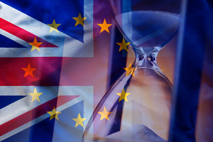 UK Brexit EU Hourglass Times Running Out
