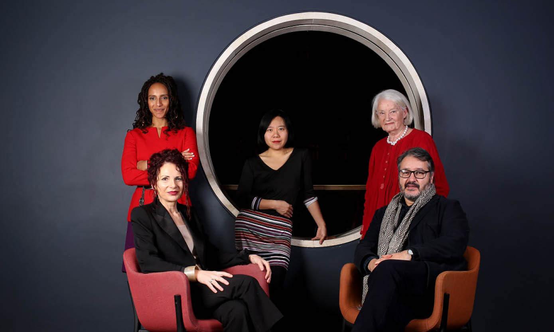 Booker prize judges - Afua Hirsch, Liz Calder, Xiaolu Guo and Joanna MacGregor