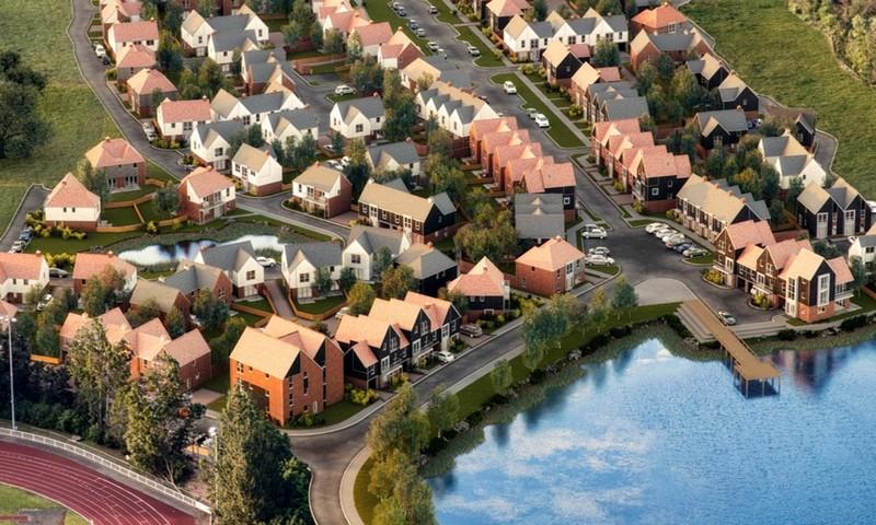 Aerial Conningbrook Lakes