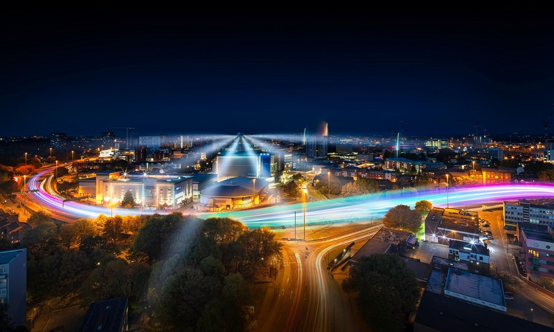 Conventry moves by Nigel Jamieson, Light trails